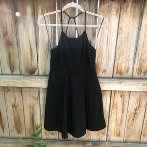 Hyfve black lace dress size M button detail back